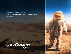 VIDEO CREATIVE BEST PRACTICES