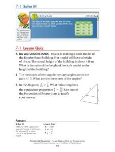 7 1 Lesson Quiz 7 1 Solve It