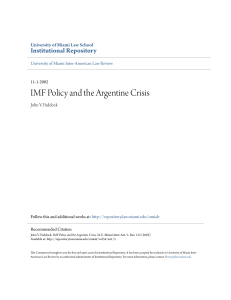 comment imf policy and the argentine crisis