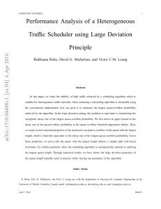 Performance Analysis of a Heterogeneous Traffic Scheduler
