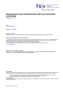 Displacement laser interferometry with sub-nanometer