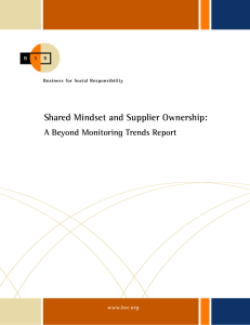 Shared Mindset and Supplier Ownership: