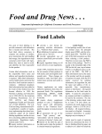 Food and Drug News