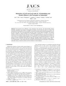 Reduction of CuO and Cu2O with H2: H Embedding