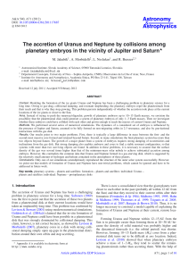 The accretion of Uranus and Neptune by collisions among planetary