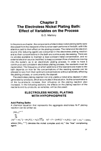 Chapter 2 The Electroless Nickel Plating Bath: Effect of Variables on