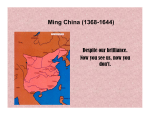 Ming China - Modern World History @ SDA