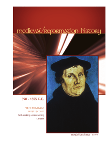 medieval/reformation history