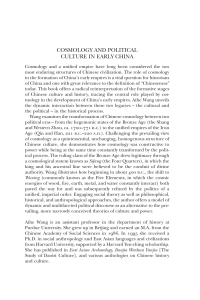 cosmology and political culture in early china - Assets