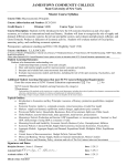 Master Course Syllabus - Jamestown Community College