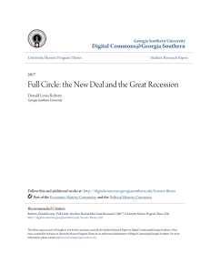 Full Circle: the New Deal and the Great Recession