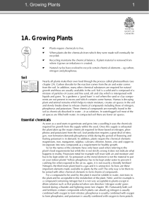 1A. Growing Plants - The Royal Society of Chemistry