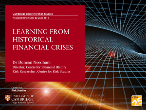 LEARNING FROM HISTORICAL FINANCIAL CRISES