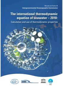 The International thermodynamic equation of seawater