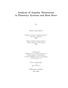 Analysis of Angular Momentum in Planetary Systems and Host Stars