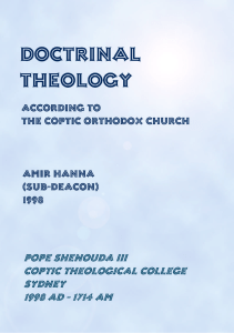 doctrinal theology - Saint