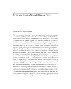 Soviet and Russian Strategic Nuclear Forces