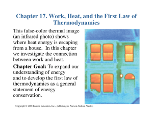 Chapter 17. Work, Heat, and the First Law of Thermodynamics