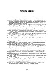 bibliography - Every Vote Equal