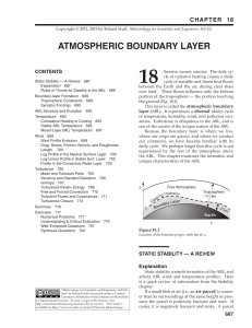 18. Atmospheric Boundary Layer