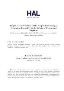 Origin of the Structure of the Kuiper Belt during a Dynamical