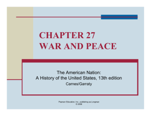 chapter 27 war and peace - National Paralegal College