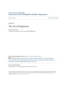 The Art of Adaptation - UNH Scholars` Repository