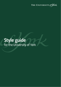 Style guide - University of York