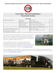 Civil War 150 HistoryMobile Teachers` Guide