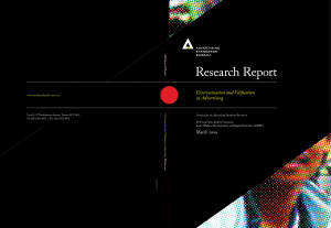 Research Report - Advertising Standards Bureau