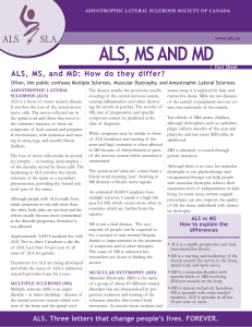 ALS, MS AND MD - ALS Society of Canada