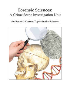 Forensic Sciences - Manitoba Education and Training