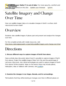 Satellite Imagery and Change Over Time Overview Directions