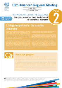 1. Integrated policies for the transition to formality