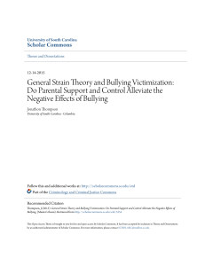 General Strain Theory and Bullying Victimization