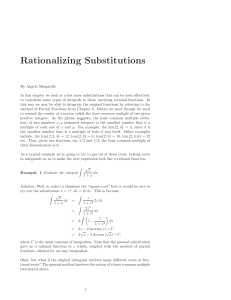 Rationalizing Substitutions