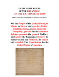 latin derivatives in the preamble to the us constitution