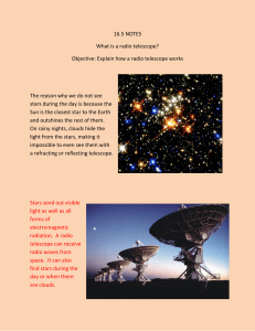 16.5 NOTES What is a radio telescope? Objective: Explain how a