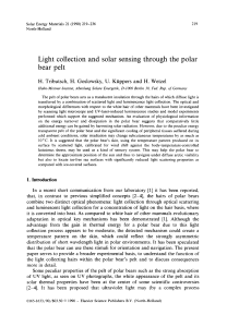 Light collection and solar sensing through the polar bear pelt