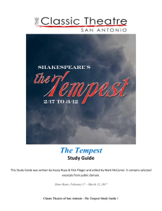 The Tempest Study Guide - The Classic Theatre of San Antonio