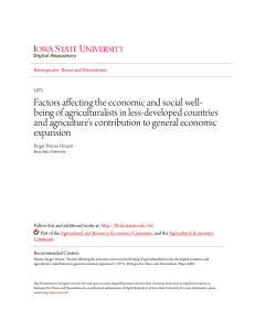 Factors affecting the economic and social well