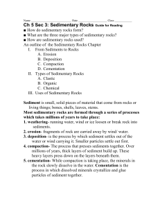 Ch 5 Sec 3: Sedimentary Rocks Guide for Reading
