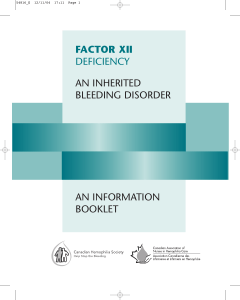 factor xii deficiency an inherited bleeding