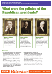What were the policies of the Republican presidents?