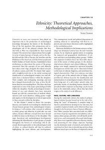 Ethnicity: Theoretical Approaches, Methodological