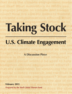 US Climate Engagement - Skoll Global Threats Fund