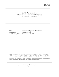 Safety Assessment of Alumina and Aluminum Hydroxide