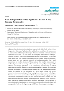 Gold Nanoparticle Contrast Agents in Advanced X