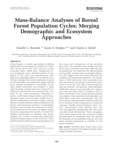 Mass-Balance Analyses of Boreal Forest Population