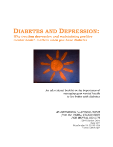 diabetes and depression - World Federation for Mental Health